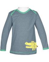 loud + proud Shirt long sleeve CROCODILE ultramarin 1037-ul GOTS