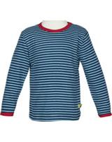 loud + proud T-Shirt Langarm RINGEL ultramarin 1023-ul GOTS