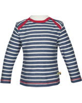 loud + proud T-Shirt Langarm RINGEL ultramarin 1026-ul GOTS