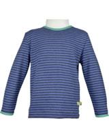 loud + proud Shirt long sleeve ultramarin 1038-ul GOTS