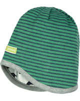 loud + proud Reversible hat grey  jade 7051-jad GOTS