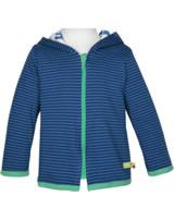 loud + proud Reversible jacket with hood ultramarin 3054-ul GOTS