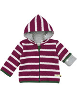 loud + proud Wendejacke Strick DACHS berry/natural 3008-ber/na GOTS