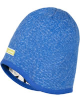 loud + proud Reversible knitted cap cobalt 7058-cob GOTS