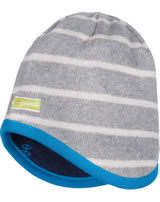 loud + proud Reversible knitted cap grey melange 7029-gr GOTS