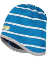 loud + proud Reversible knitted cap petrol 7029-pe GOTS