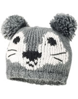 MaxiMo Strick-Mütze Mini mit Wolle GESICHT mittelgrau 43584-209500-0049