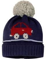 MaxiMo Strick-Mütze m. Bommel AUTO blau/rot/grau 53575-228800-0048
