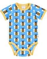 Maxomorra Baby-Body Kurzarm HUMBLE BUMBLEBEE blau GOTS M470-C3343