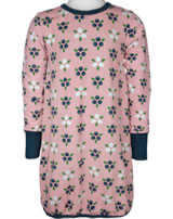 Maxomorra Ballon-Kleid Langarm BLAUBEERBLÜTE rosa M485-D3276 GOTS
