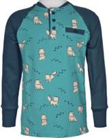 Maxomorra Baseball-Shirt Langarm POLARFUCHS blau M431-D3287 GOTS