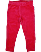 Maxomorra Leggings Velour BASIC rot BASI-M253-D3003 GOTS