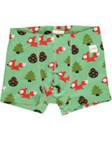 Maxomorra Boxer Shorts BUSY SQUIRREL green M466-D3267 GOTS