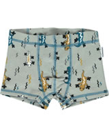 Maxomorra Boxer Shorts LIZARD beige/bleu M346-D3242 GOTS
