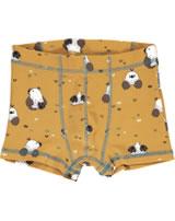 Maxomorra Boxershorts Unterhose MAULWURF gelb M346-D3224 GOTS