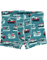 Maxomorra Boxer Shorts TRAWLER blue/red M346-D3233 GOTS
