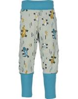 Maxomorra Pantalon LIZARD beige/bleu M340-D3242 GOTS