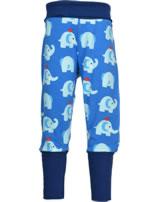 Maxomorra Bund-Hose ELEPHANT FRIENDS blau GOTS M476-C3339