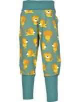 Maxomorra Pantalon LION vert/jaune M340-D3230 GOTS