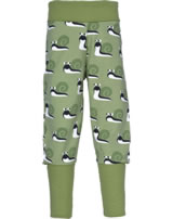 Maxomorra Bund-Hose SCHNECKE apple green M340-D3213 GOTS