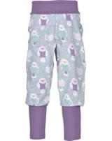 Maxomorra Pantalon BUDGIE gris/rose M340-D3232 GOTS