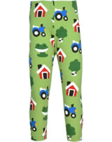 Maxomorra Capri-Leggings FOREST FARM grün GOTS M384-C3342
