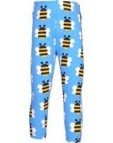 Maxomorra Capri-Leggings HUMBLE BUMBLEBEE blau GOTS M384-C3343