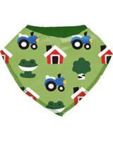 Maxomorra Dreieck-Halstuch FOREST FARM grün GOTS M348-C3342