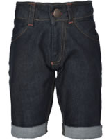 Maxomorra Jeans-Bermuda Pants Knee denim dark blue washed M362-D3261 organic