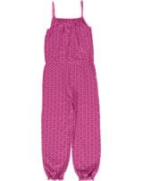 Maxomorra Jumpsuit Einteiler m. Trägern MARIENKÄFER rose pink M356-D3221 GOTS