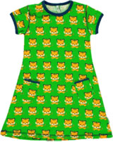 Maxomorra Kleid Kurzarm TIGER grün/orange SP17-M313-D093 GOTS