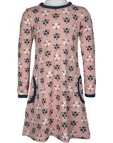 Maxomorra Kleid Langarm BLAUBEERBLÜTE rosa M436-D3276 GOTS