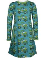 Maxomorra Kleid Langarm BUNTER TRUCK blau/grün GOTS M436-C3365