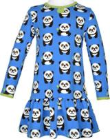 Maxomorra Kleid Langarm PANDA blau/grün GOTS M443-C3335