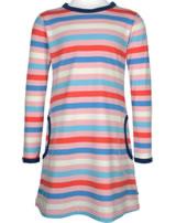 Maxomorra Kleid Langarm Streifen Blossom rosa/blau GOTS M515-C3351