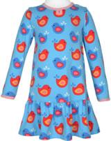 Maxomorra Kleid Langarm VÖGEL blau/rosa GOTS M443-C3337