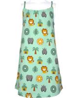Maxomorra Robe JUNGLE vert/jaune M373-D3231 GOTS