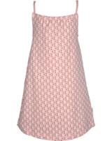 Maxomorra Kleid m. Spaghetti-Trägern FISCHE rosa M373-D3241 GOTS