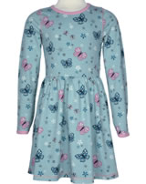 Maxomorra Robe manches longues BUTTERFLY pale blue M360-D3225 GOTS