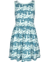 Maxomorra Dress Spin OCEAN LANDSCAPE blue M376-D3240 GOTS