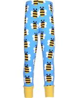 Maxomorra Leggings mit Bündchen HUMBLE BUMBLEBEE blau GOTS M435-C3343