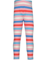 Maxomorra Leggings Streifen stripe/blossom GOTS M518-C3351