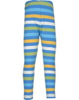 Maxomorra Leggings Streifen stripe/ocean GOTS M518-C3350