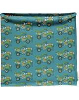 Maxomorra Loop Schlauchschal BUNTER TRUCK blau/grün GOTS M480-C3365