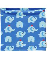 Maxomorra Loop Scarf Tube ELEPHANT FRIENDS blue GOTS M480-C3339