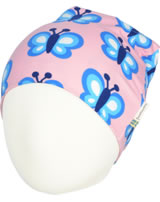 Maxomorra Hat Beanie BLUEWING BUTTERFLY pink GOTS M544-C3341