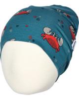 Maxomorra Mütze Beanie KREBS blau/rot M388-D3244 GOTS
