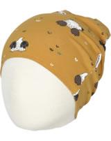 Maxomorra Mütze Beanie MAULWURF gelb M388-D3224 GOTS
