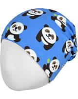Maxomorra Mütze Beanie PANDA blau/grün GOTS M544-C3335