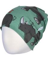 Maxomorra Mütze Beanie RHINO grün/grau M388-D3246 GOTS